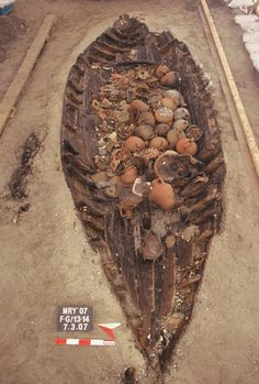 Byzantine shipwreck from the end of 4th century (Yenikapi,Turkey). The ship was loaded with pickled fry (a type of small fish), almonds, walnuts, hazels, muskmelon seeds, olives, peaches and pine cones and roman sauce - garum.