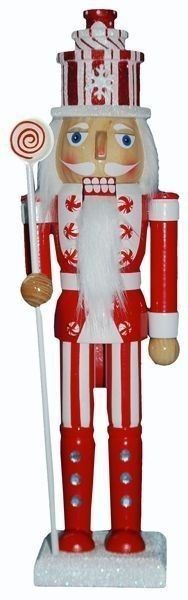 Retail - Nutcracker Ballet Gifts - 15 inch Nutcracker with Red and White Glitter