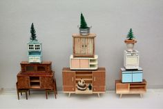 Dolls house furniture by Sabine Timm