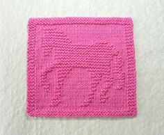 Pink Horse hand knitted wash cloth or dishcloth. 100% cotton grown in the USA. This prancing horse shape was personally designed and hand knitted by me, so you are getting a genuine original design from Aunt Susans Closet. ITEM DESCRIPTION: -- Color: Dark Rose Pink -- Size: Approx. 8 x 8.5 -- Design: Horse / Pony -- Material: 100% cotton grown in USA -- Condition: Brand new, never used -- Care: Machine wash and dry - Detailed care instructions will be sent with the cloth.  This cloth is soft…