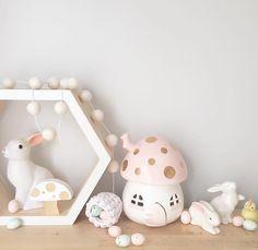 Bunnies  @harlows_world #littlebelle #mushroomlamp #fairymushroomlight