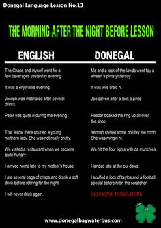 Donegal sayings