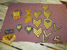 Nice lot Vintage Military Patches Green Gold Stripes 121st Tactical Fighter Group Lockbourne AFB 1962-1974 Ohio by EvenTheKitchenSinkOH on Etsy