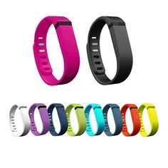 Ecsem® New 10pcs Colorful Large Replacement Wristband Band with Clasps for Fitbit Flex Only /No Tracker/ Wireless Activity Bracelet Sport Wristband Fit Bit Flex Bracelet Sport Arm Band Armband Fitness Case * For more information, visit image link.