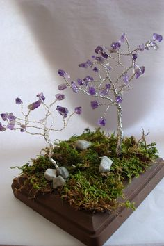 wire wrapping trees - Google Search Home Crafts, Diy And Crafts, Jewelry Crafts, Jewellery Diy, Wire Wrapping, Wrapping Ideas, Bonsai, Wire Trees, Tree Sculpture