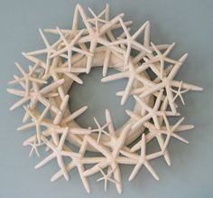 seashell wreath- I want this for our future bathroom! It's too big to put in our seashell bathroom we have now.