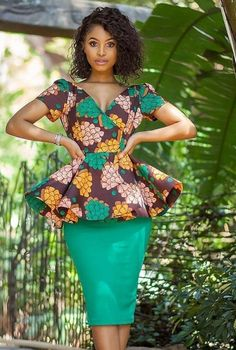 African Blouses, African Tops, African Shirts, African Print Dresses, African Print Fashion, Africa Fashion, African Fashion Dresses, Fashion Skirts, African Attire