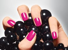 """Three steps to long-lasting polish: 1) Before you apply polish to natural nails, always wipe them with nail polish remover to eliminate any leftover oils that prevent polish from """"sticking."""" 2) Use a base coat or strengthener on your bare nail before applying color. 3) Paint a stripe down the center of the nail with your favorite shade, followed by one stroke on either side for a thin first layer. Always finish with a protective coating — the secret to preventing chipping!"""