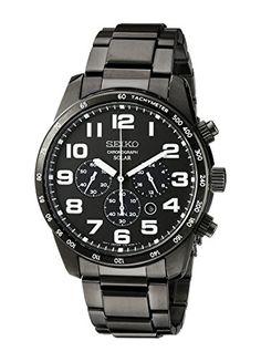 Seiko Men's SSC231 Sport Solar Stainless Steel Watch