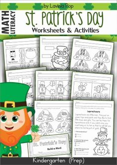 St. Patrick's Day Worksheets and Activities for Kindergarten