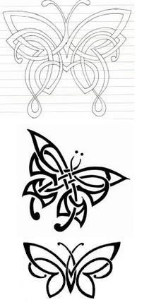Celtic butterfly tat. I like the bottom one.