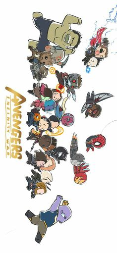 Avengers Infinity War || Iron-Man, Guardians of the galaxy, Thor, Spider-Man, Captain America, Black Panther, Black Widow || Cr: Peemphat Savikul