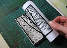 printmaking foot print designs erasers | news and knitting | Press for Design