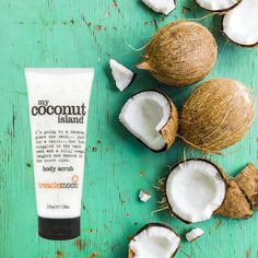 For summer holiday ready skin and tropical pins, try Treaclemoon's My Coconut Island Body Scrub #summerbeauty