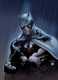 Batman in the rain by AlonsoEspinoza on deviantART