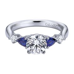 Gabriel & Co. Engaged Contemporary Straight Engagement Ring