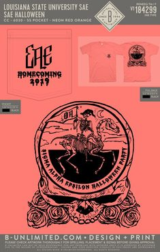 LSU Sigma Alpha Epsilon Halloween Homecoming Shirt | Fraternity Event | Greek Event #sigmaalphaepsilon #sae #lsu #tigers Sigma Alpha Epsilon, Louisiana State University, Lsu Tigers, Fraternity, Homecoming, Greek, Holidays, Halloween, Shirt