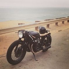 One of our cb550 customs out having a life. #seaweedandgravelgarage