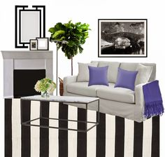 I love when procrastinating on Pinterest leads me to an amazing space, and what's more I could actually trace this one back to the source! The talented Lynn Morgandesigned this sophisticated living room with an elegantly restrained palette–just black and white, a few natural elements, and one strong accent color. Sometimes black and white spaces …