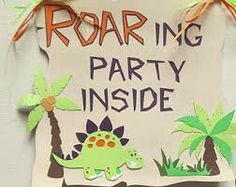 Roaring party inside sign