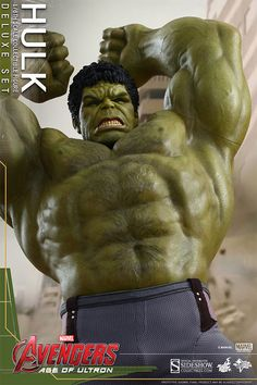 Hot Toys : Avengers: Age of Ultron - Hulk scale Deluxe Collectible Set Hulk 1, Hulk Marvel, Ultimate Hulk, Iron Man Armor, Hulk Smash, New Avengers, Hot, Age Of Ultron, Iconic Characters