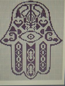 hand of fatima from morocco free cross stitch