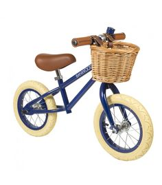 Kids Push Bike   Blue Balance Bike   Vintage Bicycles