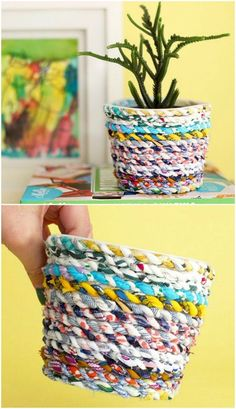 How To Make Scrap Fabric Twine Video Instructions Wie macht man Scrap Fabric Twine Video Anweisungen Fabric Bowls, Fabric Yarn, Fabric Scraps, Fabric Sewing, Fabric Remnants, Scrap Fabric Projects, Sewing Projects, Easy Projects, Sewing Ideas