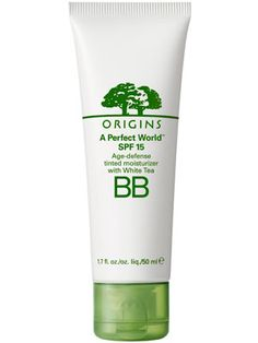 The antioxidant-packed Origins A Perfect World SPF 15 BB moisturizes skin and evens tone