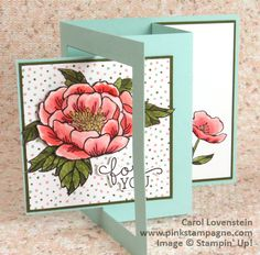 Birthday Blooms For You – 2016 Occasions Catalog Sneak Peak; Birthday Bouquet DSP; Designed by Carol Lovenstein   www.pinkstampagne.com;  Stampin' Up! Card Idea