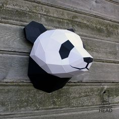 With this template, you can make your own paper panda head! Size: 6 pages, 24 parts Difficulty level: below average The dimentions of the assembled sculpture: H25 W20 D20 when printing on A4 or H35 W30 D30 when printing on A3 The product contains the following files in .pdf format: 1. The basic template 2. Colored template 3. Reminder of the assembly order 4. Reminders of ways to create the sculpture (soon) In addition to the template, you will need: 1. Paper or cardstock, dens...