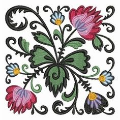 Polish Folk Art Wycinanski 5 - 4x4 | What's New | Machine Embroidery Designs | SWAKembroidery.com Ace Points Embroidery