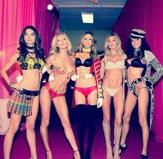 The 2013 Victoria's Secret Angels at the VS Fashion Show