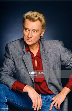 French singer and actor Johnny Hallyday.