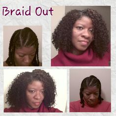 Natural Hair Braid Out