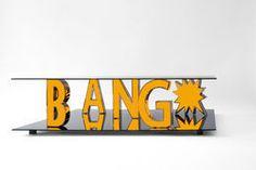 'Bang*', 2014  :  Reinier Bosch.  Stainless steel, Plexiglass