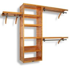 John Louis Home Deluxe 16 in. Solid Wood Honey Maple Closet System for closets up to 10 ft.-JLH-525 at The Home Depot