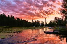 This beautiful late-August sunset on the Twin Lakes Channel in North Idaho was captured by photographer Joe Vogel.