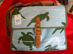 FOSSIL KEYPER SEAFOAM FLAP CROSSBODY Coated Canvas Satchel Bag ZB5895448 NWT NEW #Fossil #MessengerCrossBody