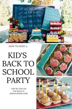 how to host a kids back to school party