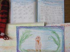 Grade 2 lesson books and handwork flute bag.