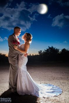 creative wedding photography. What a gorgeous bride and groom portrait! :)