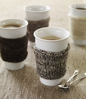 Knitted Reusable Coffee-Cup Sleeve