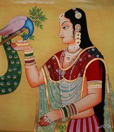 Rajasthani Painting Modern Artwork Village By Poojaartnframe 7 - Full Image Mf Hussain Paintings, Pichwai Paintings, Mughal Paintings, Indian Art Paintings, Rajasthani Miniature Paintings, Rajasthani Painting, Rajasthani Art, Kalamkari Painting, Madhubani Painting
