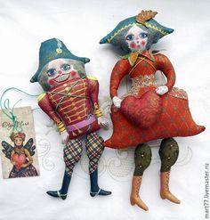 """Коллекционные куклы ручной работы. """" Щелкунчик и Коломбина"""". Olga Mart. Ярмарка Мастеров. Игрушки ручной работы, акриловые краски"""