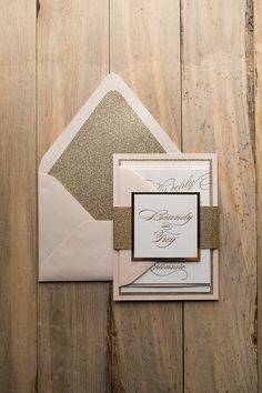 Letterpress Wedding Invitations, Blush and Gold, Trending, Fancy, Black Tie, Formal, Faith Suite, Jupiter and Juno