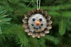 Vintage Tart Tin Snowman Christmas Ornament - Rusty Recycled Goodness for your TREE