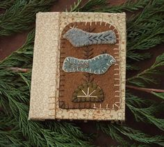Wooly Birds Needle Book 3.75''w  4.25''h