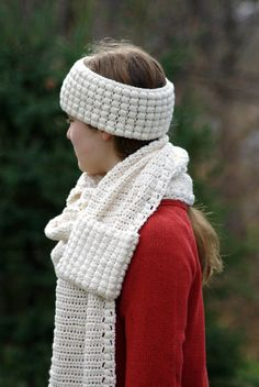 Crochet Patterns - Ear Warmer and Scarf Patterns by HiddenMeadowCrochet