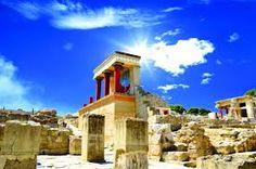 Knossos palace at Crete, Greece Knossos Palace Mykonos, Santorini, Greek Island Tours, Knossos Palace, Crete Island, Destinations, Greek Isles, Photo Maps, Crete Greece
